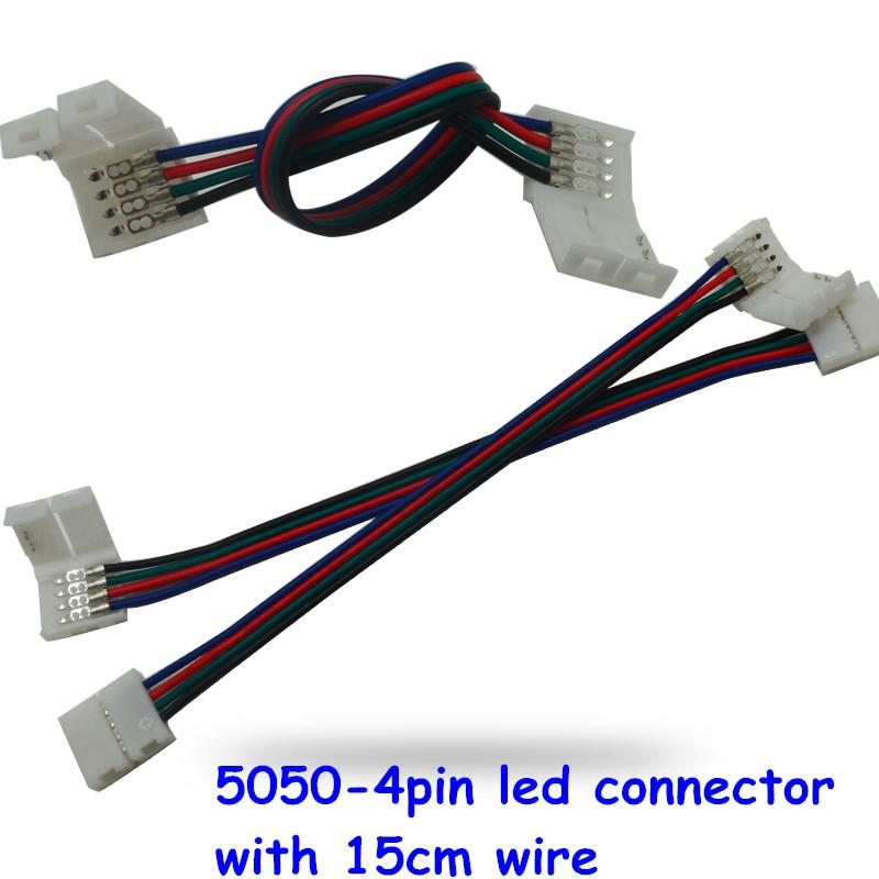 5050 led strip wiring diagram 1999 ford ranger cd radio 4 pin 1tt awosurk de 10mm width solderless connector extension cable wire rh dhgate com rocker switch