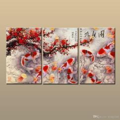 Painting For Living Room Feng Shui L Shaped Layout Ideas 2019 Gift Giclee Print Home Art Wall Decor China S Wind Fish Koi Animal Printed On Canvas Modern Abc285 From Hongyiart