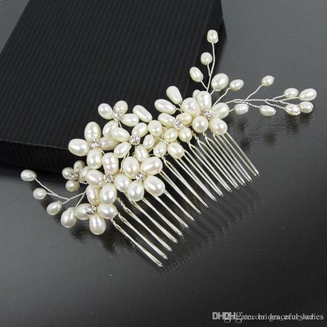 pearl bridal hair comb bridal hairpiece jewelry bridal comb swarovski rhinestones wedding vines headpieces bridal hair accessories store