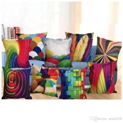 Sofa Box Cushion Covers Fold Out Bed Queen 45 45cm 3d Pillow Case Car Square Cover Pattern Printed Decor Decorative Home Throw Silk Pillowcase Linen Hh P10 V Cases