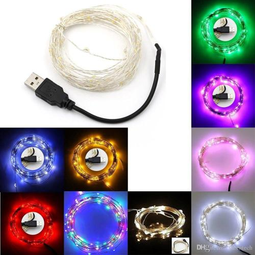 small resolution of 5m 10m multi colors usb 5v sliver wire christmas 50 100 led string fairy lights led string light led string usb usb led light online with 5 47 piece on
