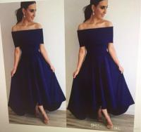 Strapless Navy Blue Bridesmaid Dresses 2017 With Sexy Off ...