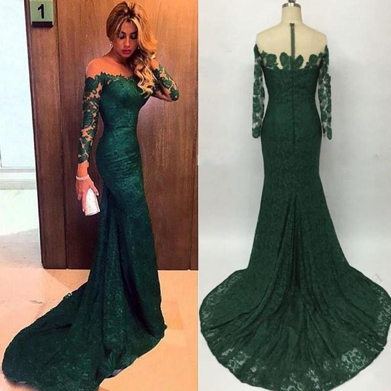 Long sleeve emerald green maxi dress plus size