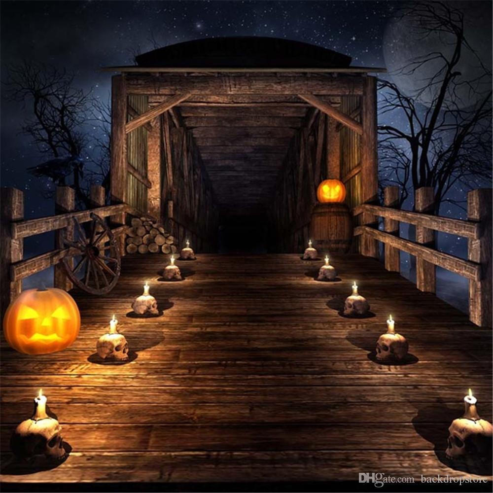 vintage wooden bridge halloween