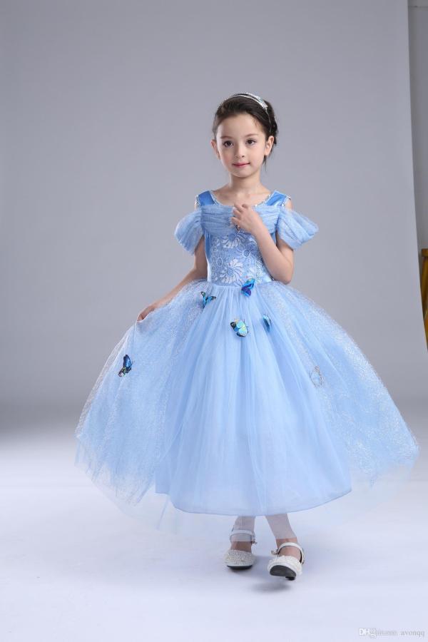 2019 2017 Frozen Baby Girls Cinderella Dress Children