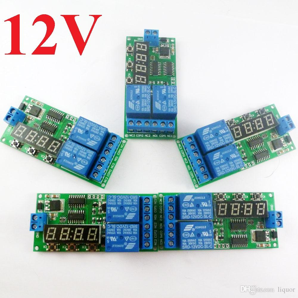 medium resolution of kc22b02 dc 12v power on delay relay cycle timer switch board 1 9999s cyclic relay wiring diagram