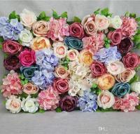 60x40cm Wedding Flower Backdrop Artificial Silk Rose Peony ...