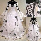 Black and White Victorian Wedding Dresses