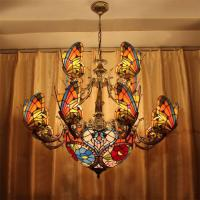 Creative Stained Glass LED Pendant Light American Tiffany ...