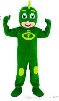 Gekko Costume Pj Mask Mascot Costume Full Adult Outfit Pj ...