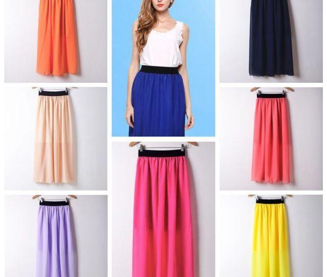 Fashion Women Long Skirt High Waist Pleated Maxi Skirts Womens Slim Vintage Chiffon Maxi Skirt Autumn Summer Skirts Cca From Good_clothes