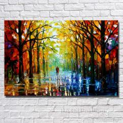 Modern Living Room Canvas Art Ideas To Decorate The Wall Hanging Scenery Painting Decoration Hand Painted Knife Oil No Framed Canada 2019 From
