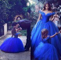 2017 Royal Blue Toddler Flower Girls Dresses For Weddings ...