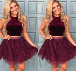 Two Piece Short Homecoming Dresses 2018