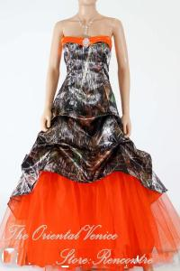 Hunter Orange Camo Wedding Dress 2016 New Realtree ...