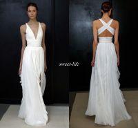 2017 Sheath Wedding Dresses For Greek Goddess Simple ...