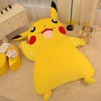 2018 Japan Anime Pikachu Soft Plush Giant Bed Carpet ...