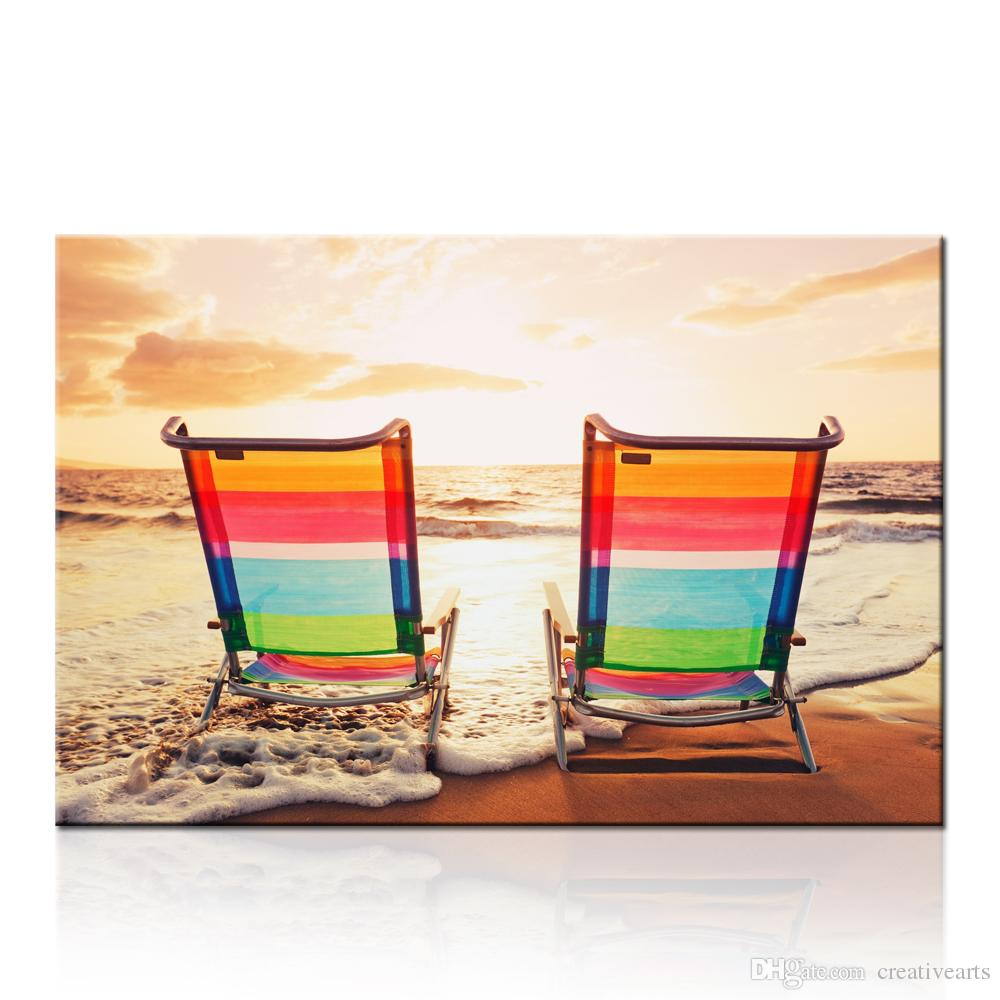 canvas beach chair covers for hire glasgow 2019 seascape paintings on seaside wall artwork dropship print living room and bedroom decor home decoration unframed from
