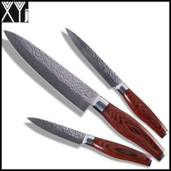 Titanium Kitchen Knives Modular Usa Xyj Damascus Set 8 Inch Chef 5 Utility 3 Paring Knife Hammering Pattern Cooking Tools Sharp The Best To