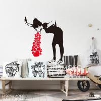 Home Decor Wall Sticker Banksy Style Lovesick Girl Woman