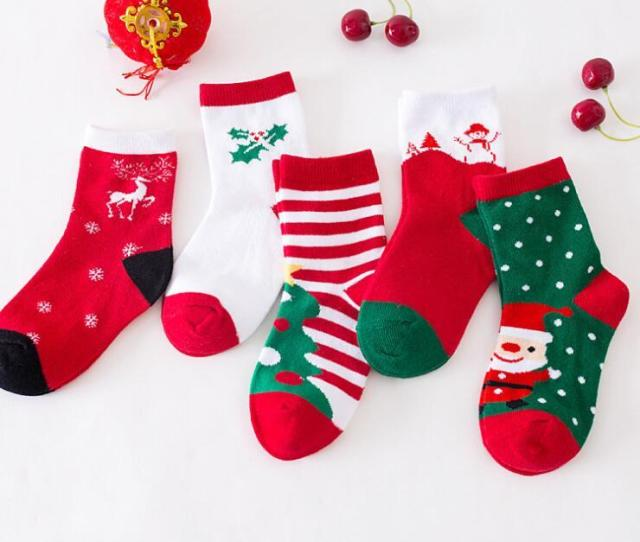 Christmas Socks  Christmas Gifts New Style Sports Socks Boys And Girls Cute Christmas Stockings For Kids High Quality From Outdoorsportssell