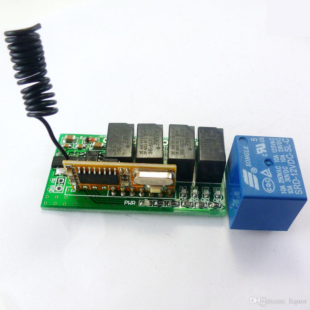 hight resolution of 2019 super mini dc 5v 9v 12v 433 92m 4ch rf wireless remote control relay switch for pt2262 ev1527 fixed learning code from liquor 11 29 dhgate com