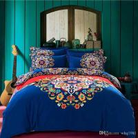 2016 Blue Bohemian Bedding Set Queen King Size Boho Style ...