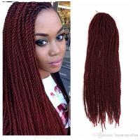 Burgundy Color Small Senegalese Twist Hair Crochet 22inch ...