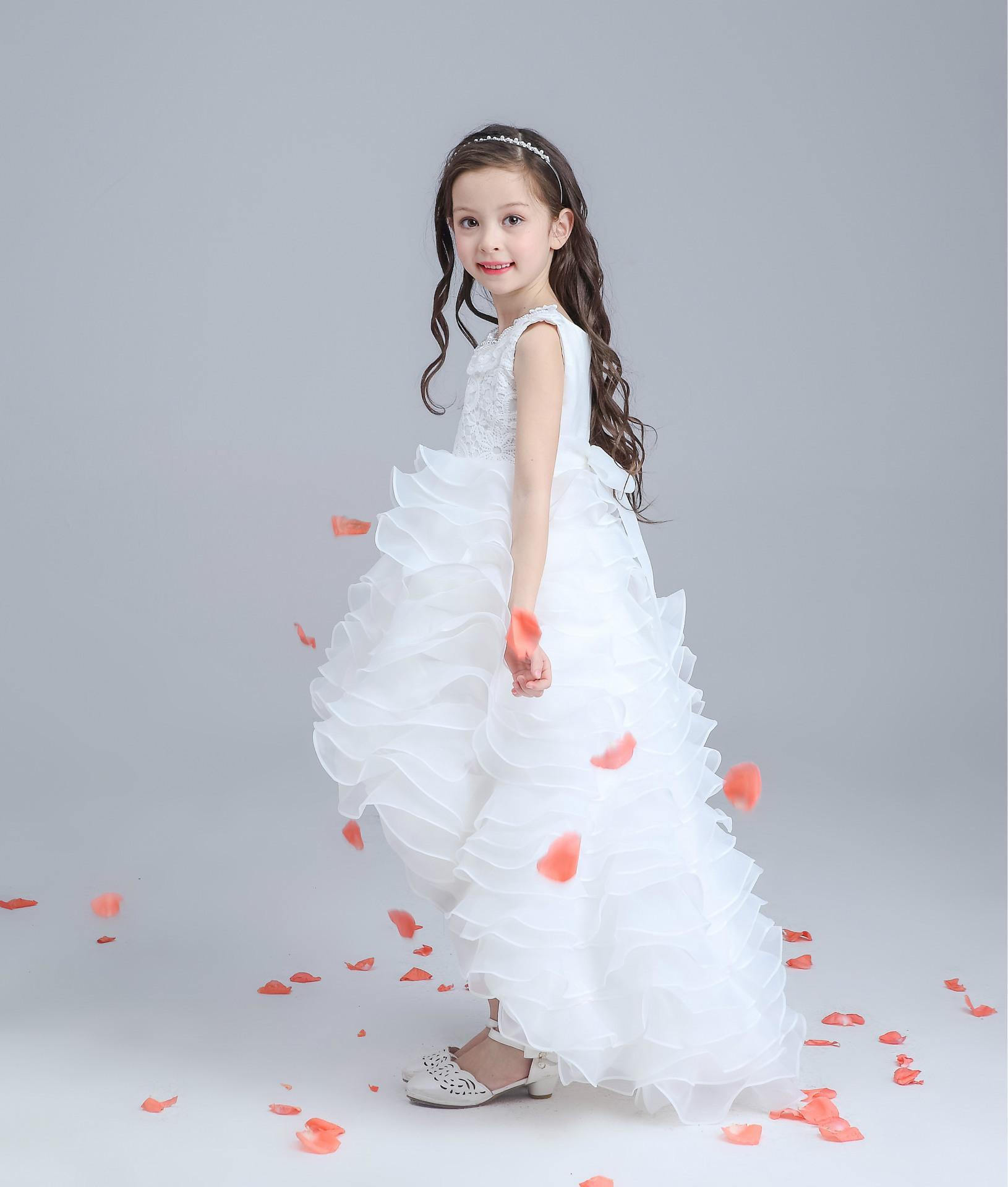 2016 New Child Dresses Design Flower Girl Dresses Pearl