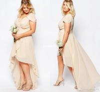 Summer High Low Plus Size Beach Wedding Bridesmaid Dresses ...