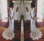 Low-Back Lace Wedding Dresses