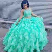 Two Piece Lace Turquoise Quinceanera Dresses 2016 Beaded ...