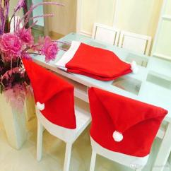 Christmas Chair Covers White Office Vadodara House Hat Set Decor Holiday Festive Cheap Polyester Spandex Best Ivory