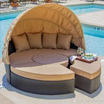 Online Cheap Outdoor Rattan Wicker Bed