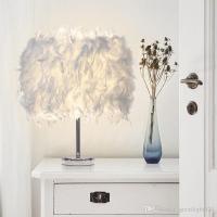 2017 Feather Light Antique Noble Table Lamp Romantic Led ...