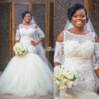 New Design African Style Ivory Wedding Dresses 2017