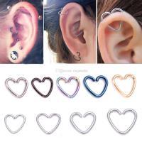 2018 Heart/Star Shaped Tragus Piercing Hoop Rings Helix ...