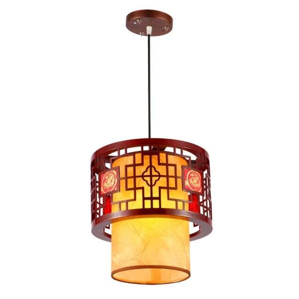 Chinese Style Wooden Teahouse Pendant Lamp Vintage Classic