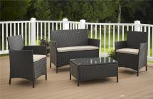 2019 Pe Rattan Wicker Sofa Set Outdoor Patio Garden Lawn