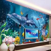 Underwater World Wallpaper Ocean Wall Mural Dolphin Photo ...