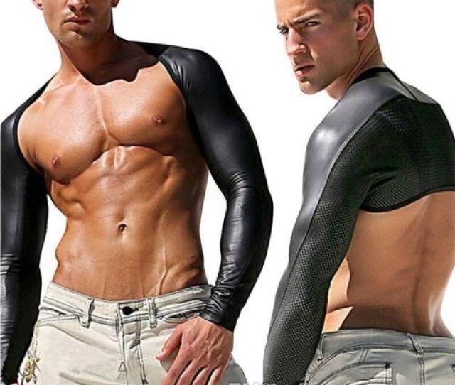Sexy Mens Sexy Pu Costume Lingerie Faux Leather Bodysuit Wild Dance Clothes Dj Erotic Shirt Lingerie X X From Tengyan Dhgate Com