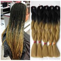 Ombre Kanekalon Braiding Hair 24100g Synthetic Braiding ...