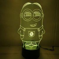 3d Small Yellow Lights Led Lights Visual Illusion Acrylic ...