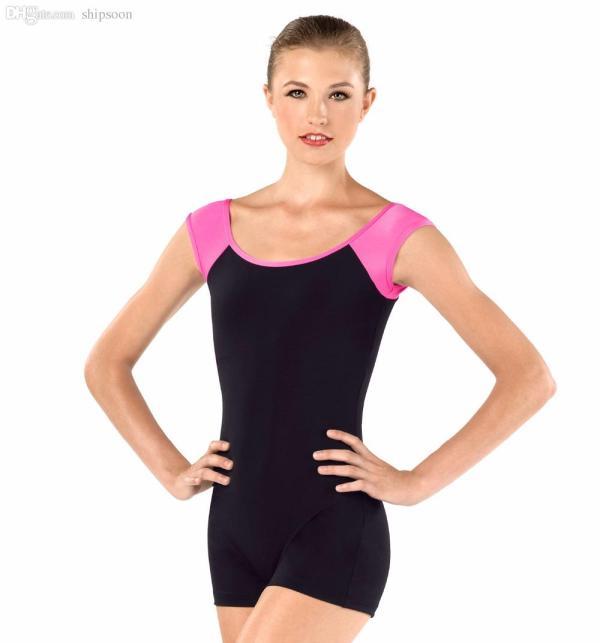 2018 Adult Short Sleeve Unitard Women Shorts