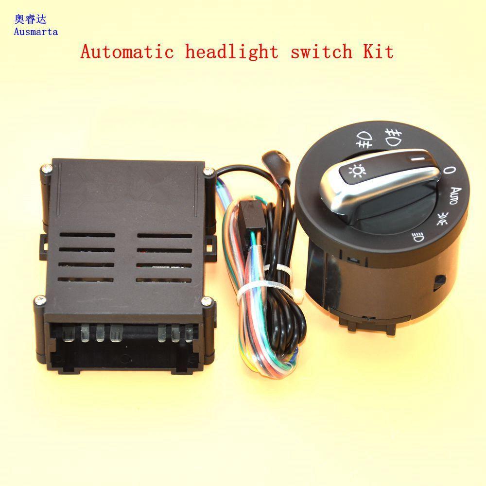 medium resolution of 2 pcs car lights switch chrome auto sensor light for vw passat b5 lavida bora polo golf 4 new jetta santana beetle 5nd941431b