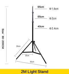 2019 wholesale photo 2m light stand tripod with 1 4 screw head for photo studio video flash umbrellas reflector lighting from jimlly 54 46 dhgate com [ 1000 x 1000 Pixel ]