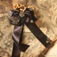 Vintage Punk Gothic Victorian Bow Tie Steampunk Neck Tie ...