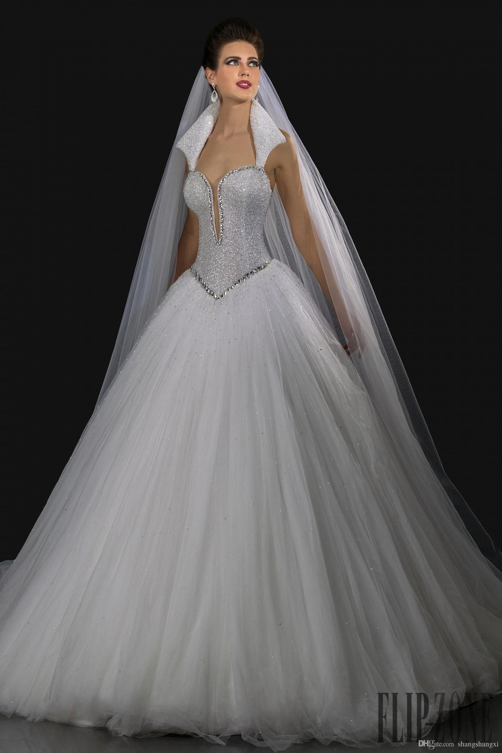 Gorgeous Wedding Ball Gowns 2016 Queen Anne Neckline