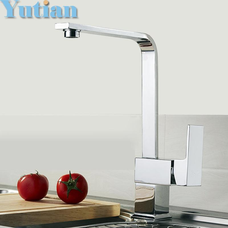 wholesale kitchen faucets commercial degreaser for 2019 faucet brass sink tap mixer square swivel torneira yt 6004 from copy02 68 23 dhgate com