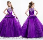 Girl Purple Ball Gown Dresses